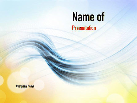 Light Abstract Theme PowerPoint Template