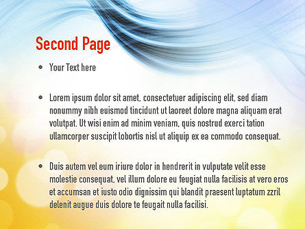 Light Abstract Theme PowerPoint Template Slide 2