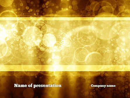 Defocused Abstract Yellow Spots PowerPoint Template, 10869, Abstract/Textures — PoweredTemplate.com