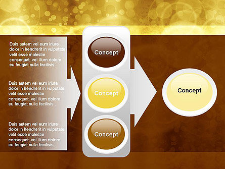 Defocused Abstract Yellow Spots PowerPoint Template Slide 11