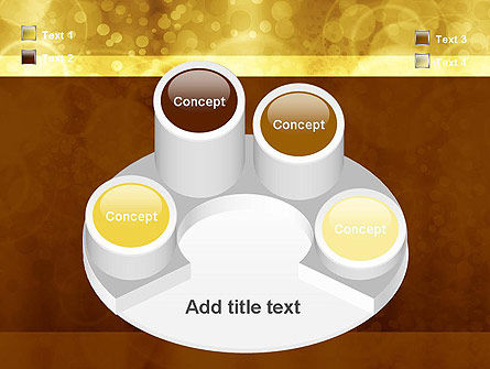 Defocused Abstract Yellow Spots PowerPoint Template Slide 12