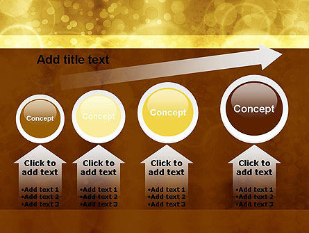 Defocused Abstract Yellow Spots PowerPoint Template Slide 13