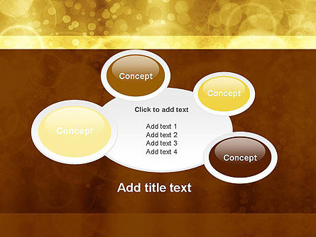 Defocused Abstract Yellow Spots PowerPoint Template Slide 16