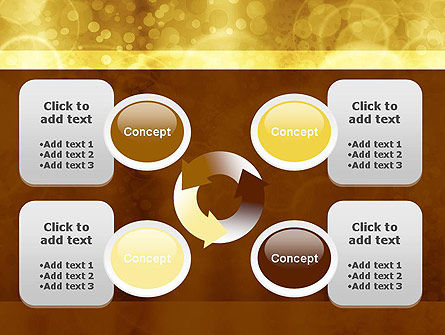 Defocused Abstract Yellow Spots PowerPoint Template Slide 9