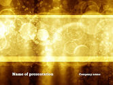 Abstract/Textures: Defocused Abstract Yellow Spots PowerPoint Template #10869