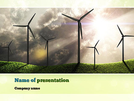 Wind Turbine PowerPoint Template, 10872, Technology and Science — PoweredTemplate.com