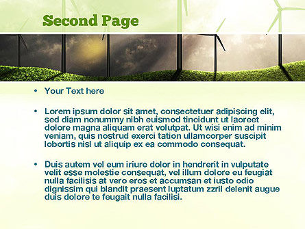 Wind Turbine PowerPoint Template, Slide 2, 10872, Technology and Science — PoweredTemplate.com