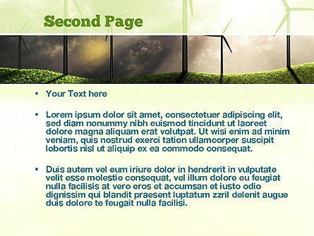Wind Turbine PowerPoint Template Slide 2