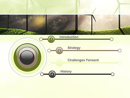 Wind Turbine PowerPoint Template, Slide 3, 10872, Technology and Science — PoweredTemplate.com