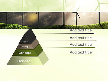 Wind Turbine PowerPoint Template, Slide 4, 10872, Technology and Science — PoweredTemplate.com
