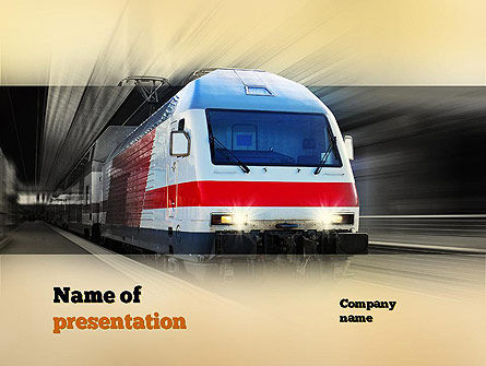 Electric Locomotive PowerPoint Template, 10874, Cars and Transportation — PoweredTemplate.com
