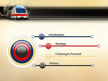 Electric Locomotive PowerPoint Template Slide 3