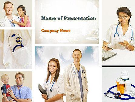 People: Pediatricians PowerPoint Template #10875