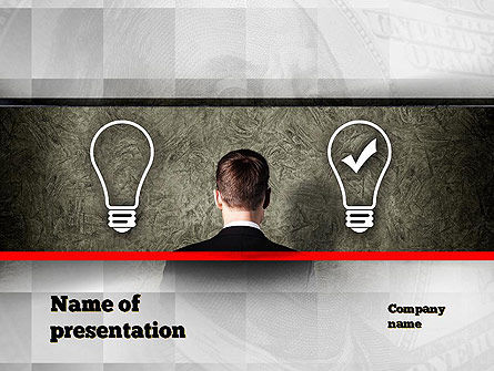 The Right Business Idea PowerPoint Template, 10879, Business Concepts — PoweredTemplate.com