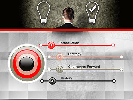 The Right Business Idea PowerPoint Template, Slide 3, 10879, Business Concepts — PoweredTemplate.com