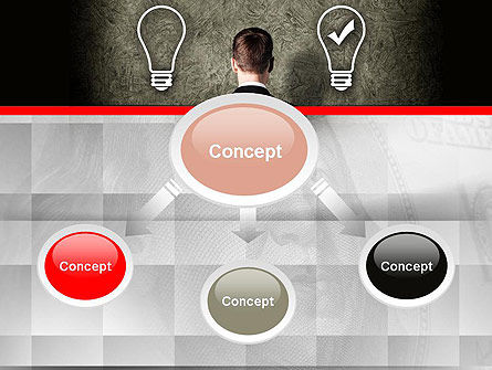 The Right Business Idea PowerPoint Template, Slide 4, 10879, Business Concepts — PoweredTemplate.com