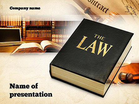 Legal: Jurisprudence PowerPoint Template #10880