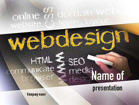 Web Design PowerPoint Template, 10881, Careers/Industry — PoweredTemplate.com