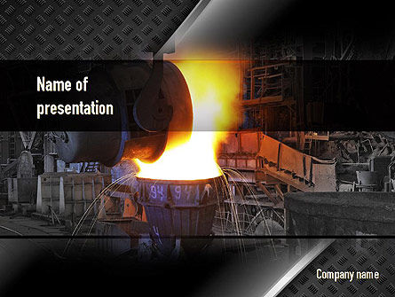 Steel Mill PowerPoint Template, 10883, Utilities/Industrial — PoweredTemplate.com