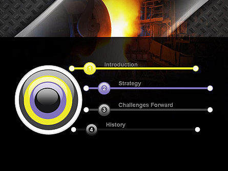 Steel Mill PowerPoint Template, Slide 3, 10883, Utilities/Industrial — PoweredTemplate.com