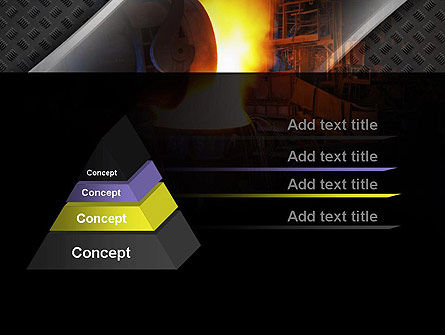 Steel Mill PowerPoint Template, Slide 4, 10883, Utilities/Industrial — PoweredTemplate.com