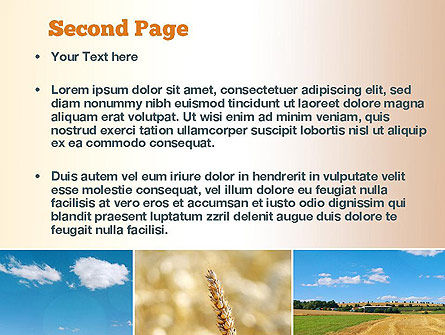 Wheat Cultivation PowerPoint Template Slide 2