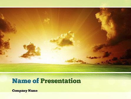 Dawn PowerPoint Template, 10886, Nature & Environment — PoweredTemplate.com