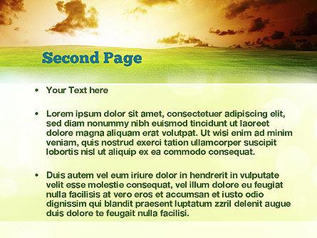 Dawn PowerPoint Template, Slide 2, 10886, Nature & Environment — PoweredTemplate.com