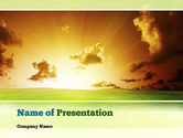 Nature & Environment: Dawn PowerPoint Template #10886