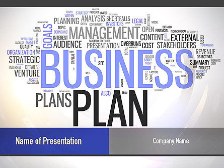 Business Plan Word Cloud PowerPoint Template