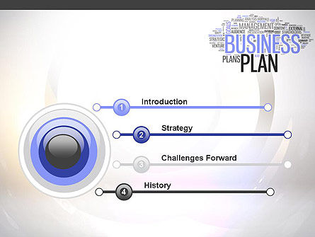 Business Plan Word Cloud PowerPoint Template Slide 3