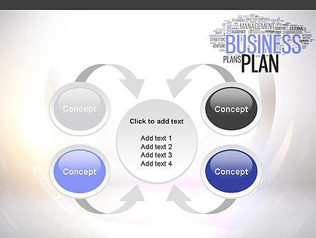 Business Plan Word Cloud PowerPoint Template Slide 6