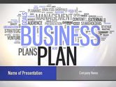 Consulting: Business Plan Word Cloud PowerPoint Template #10888