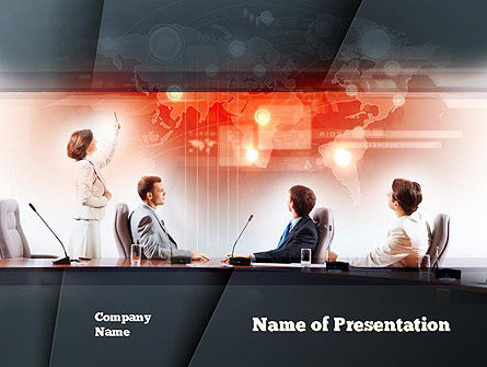 Businesswoman Reporting PowerPoint Template, 10889, People — PoweredTemplate.com