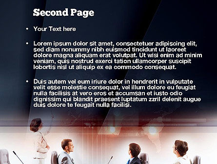 Businesswoman Reporting PowerPoint Template, Slide 2, 10889, People — PoweredTemplate.com