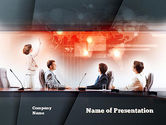 People: Businesswoman Reporting PowerPoint Template #10889