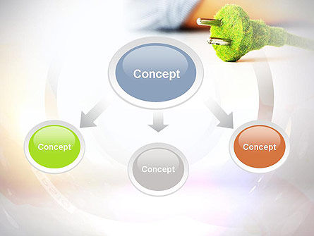 Green Plug PowerPoint Template, Slide 4, 10890, Nature & Environment — PoweredTemplate.com