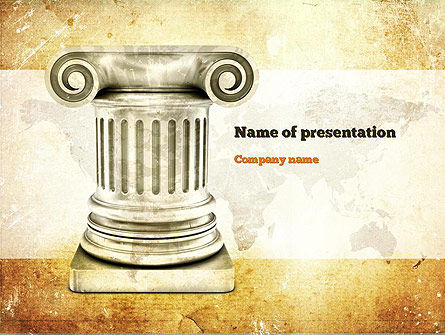 Ionic Column PowerPoint Template, 10892, Education & Training — PoweredTemplate.com