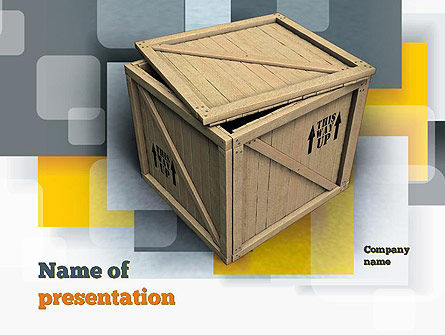 Crate PowerPoint Template, 10893, Construction — PoweredTemplate.com