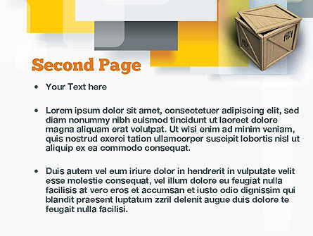 Crate PowerPoint Template, Slide 2, 10893, Construction — PoweredTemplate.com