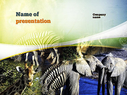 Nature & Environment: African Fauna PowerPoint Template #10894