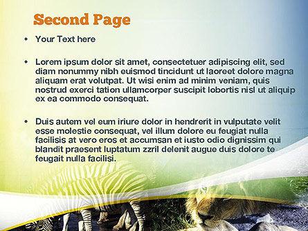 African Fauna PowerPoint Template, Slide 2, 10894, Nature & Environment — PoweredTemplate.com