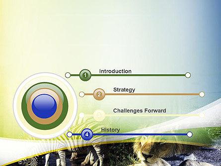 African Fauna PowerPoint Template, Slide 3, 10894, Nature & Environment — PoweredTemplate.com