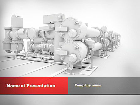 Utilities/Industrial: Industrial Machinery PowerPoint Template #10895