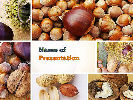 Nuts Collage PowerPoint Template, 10898, Food & Beverage — PoweredTemplate.com