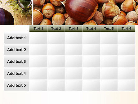 Nuts Collage PowerPoint Template Slide 15