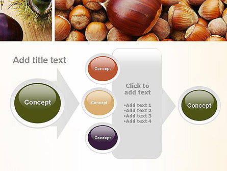 Nuts Collage PowerPoint Template Slide 17