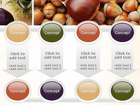 Nuts Collage PowerPoint Template Slide 18