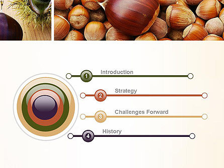 Nuts Collage PowerPoint Template, Slide 3, 10898, Food & Beverage — PoweredTemplate.com