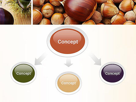 Nuts Collage PowerPoint Template, Slide 4, 10898, Food & Beverage — PoweredTemplate.com